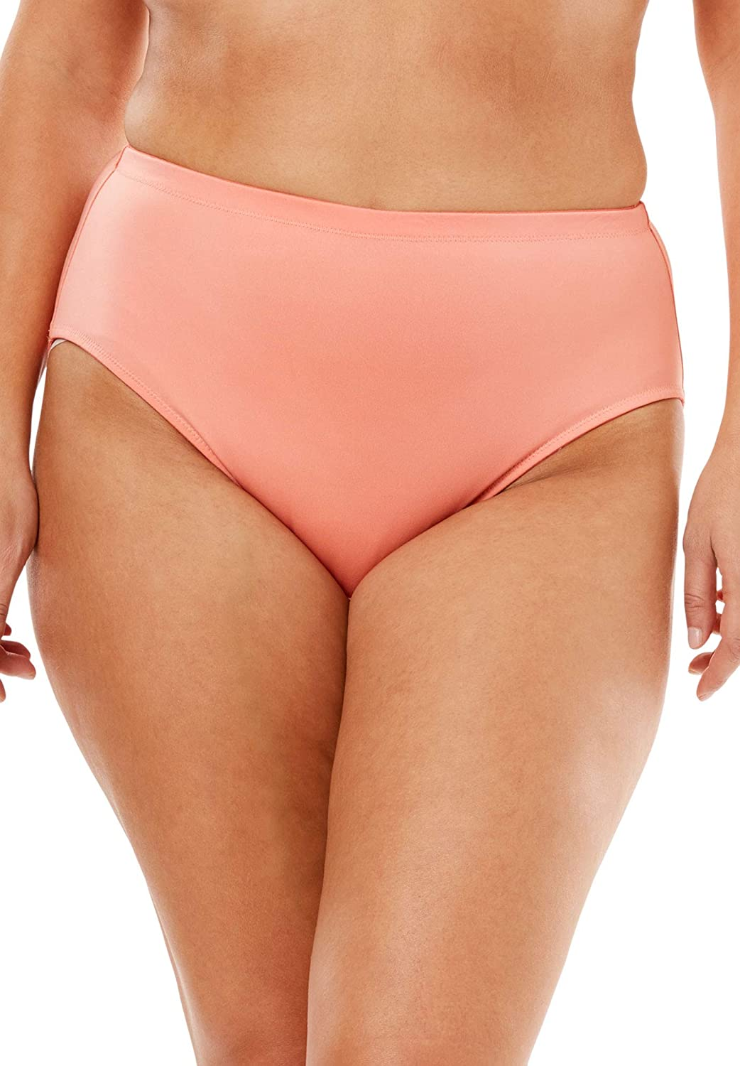 Comfort Choice Womens Plus Size Smoothing High-Cut Brief 3-Pack