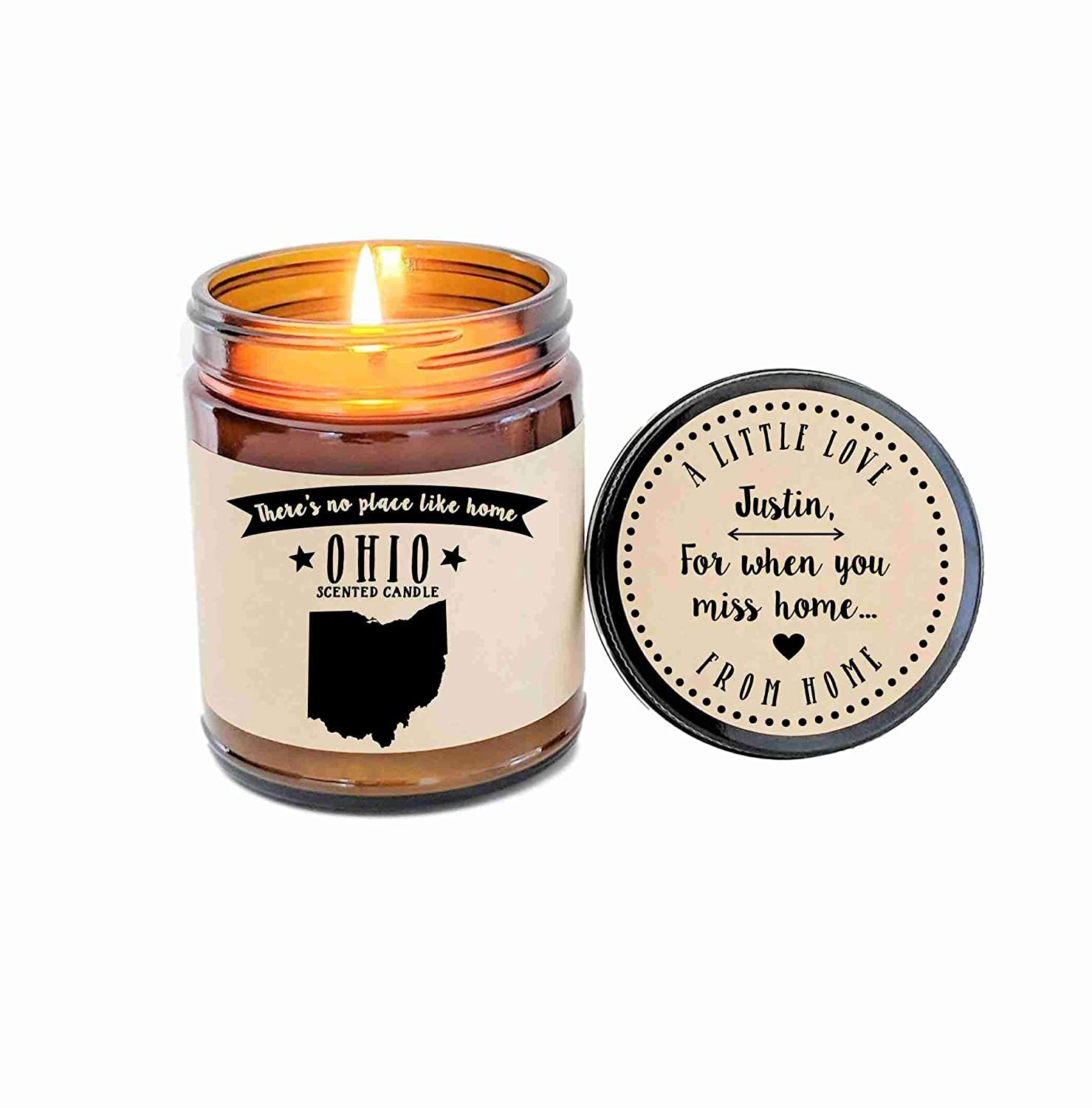 Ohio Scented Candle State Candle Homesick Gift No Place Like Home Thinking of You Holiday Gift