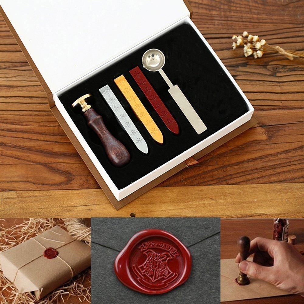 Onerbuy Juego de sellos de lacre de estilo retro y dise/ño vintage en caja de regalo