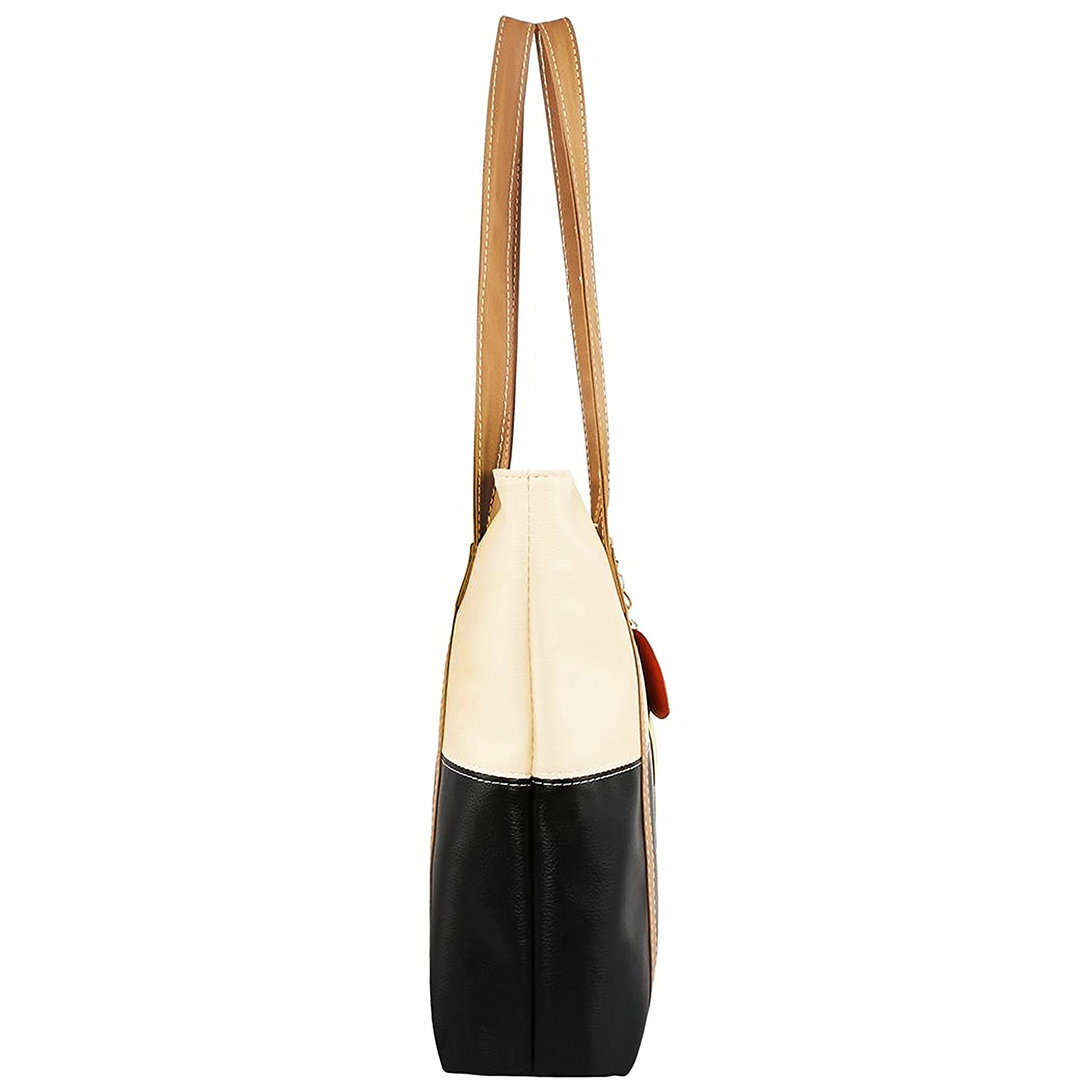 Amazon.com   Minch Cute Mixed Color Pu Leather Designer Purses and Handbags  for Women Work on (Apricot-Black)...   Sports   Outdoors 52d4fcfa6d