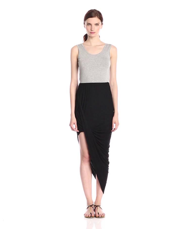Calvin Klein Women's Two Tone Tank Dress, Tin Heather Black, 12