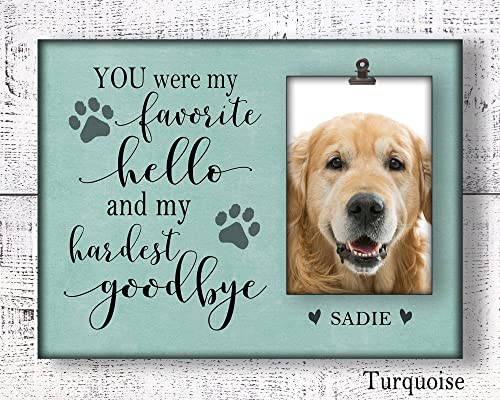 Personalised Photo Pet Memorial Dog//Cat Loss Of Pet Magnet or Hanging Plaque