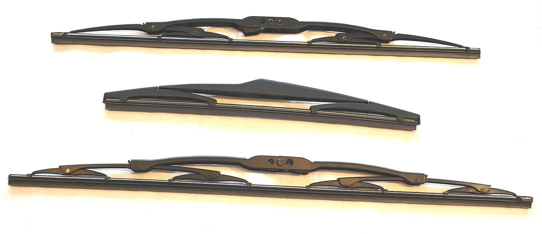Limpiaparabrisas delantero (par) + cuchilla trasera i10, TV55+40+803: Amazon.es: Coche y moto