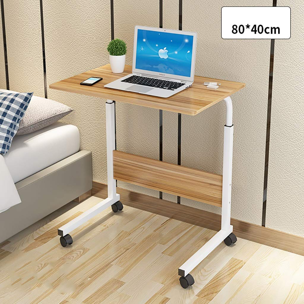 D Computer Desk Lazy Bedside Table Simple Desk Movable Lifting Desktop Household Dorm Room Simple Small Table in Bed (color   B)