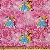 Cotton Princess Blossom Scenic Disney Snow White Cinderella Belle Cotton Fabric Print by the Yard 9494-C47018