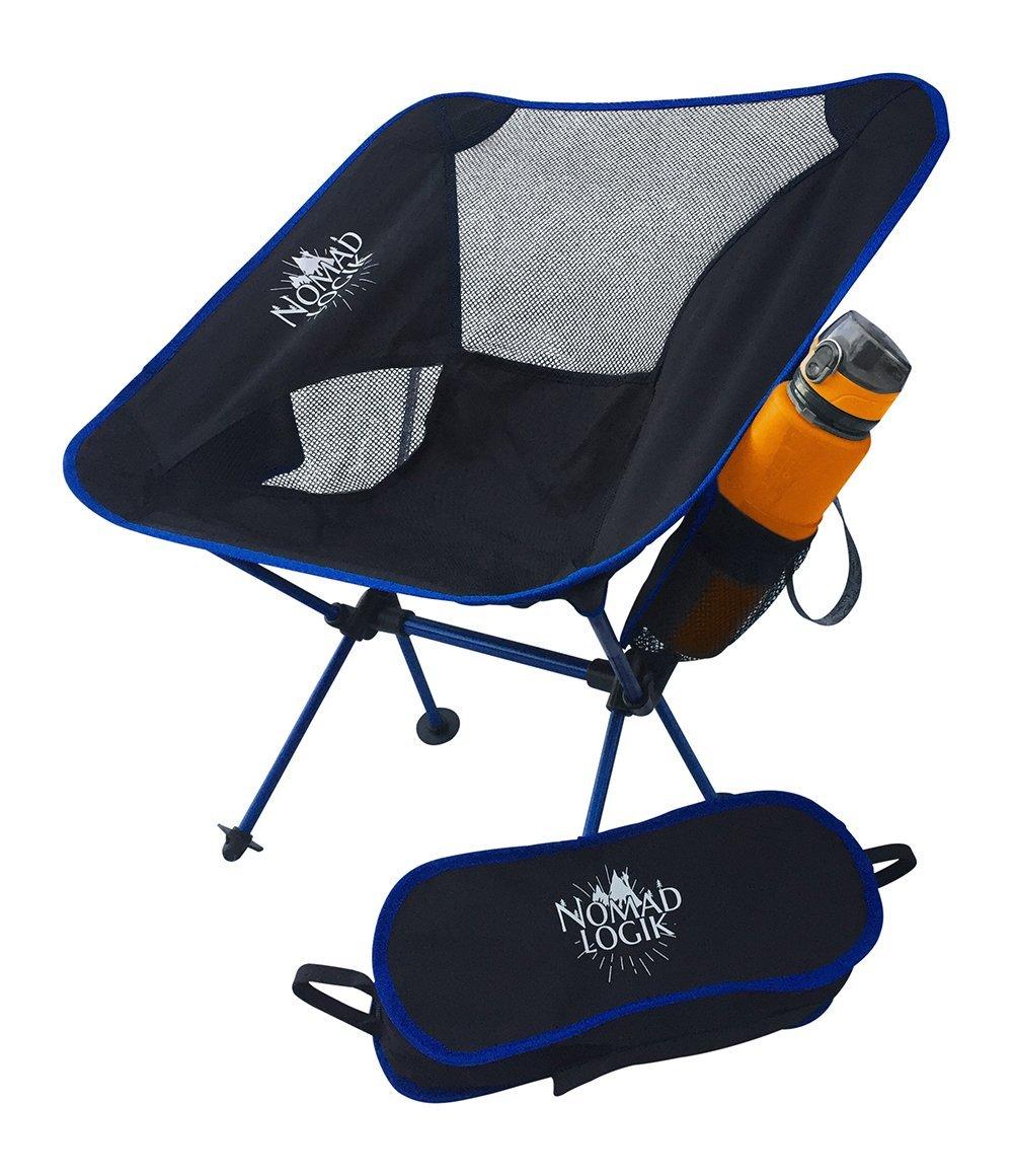 1軽量バック椅子を折りたたみ、コンパクト、ポータブルキャンプ椅子with Carryバッグ、ポケット& Awesomeボトルホルダーfor theビーチ、ハイキング、キャンプ、Trail、コンサート、スポーツ、大人、女性、子供 B0759MXW8Y  ブラック