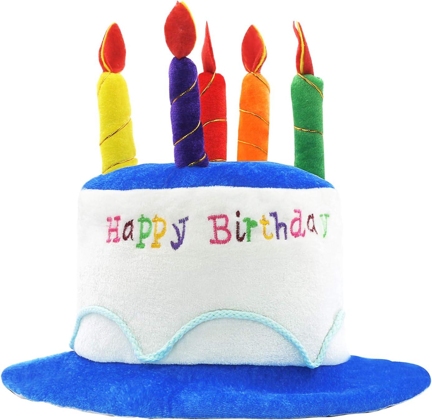 Marvelous Amazon Com Novelty Place Plush Happy Birthday Cake Hat Unisex Personalised Birthday Cards Sponlily Jamesorg