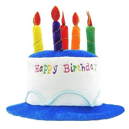 Novelty Place Plush Happy Birthday Cake Hat