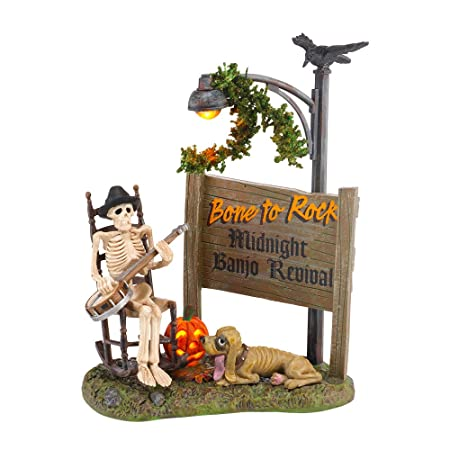 Department 56 Accessories for Villages Halloween Bone To Rock Accessory Figurine, 5.79 inch