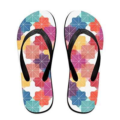 Art Rainbow Pattern Background Flip Flop Sandals, Great For Beach Or Casual Wear