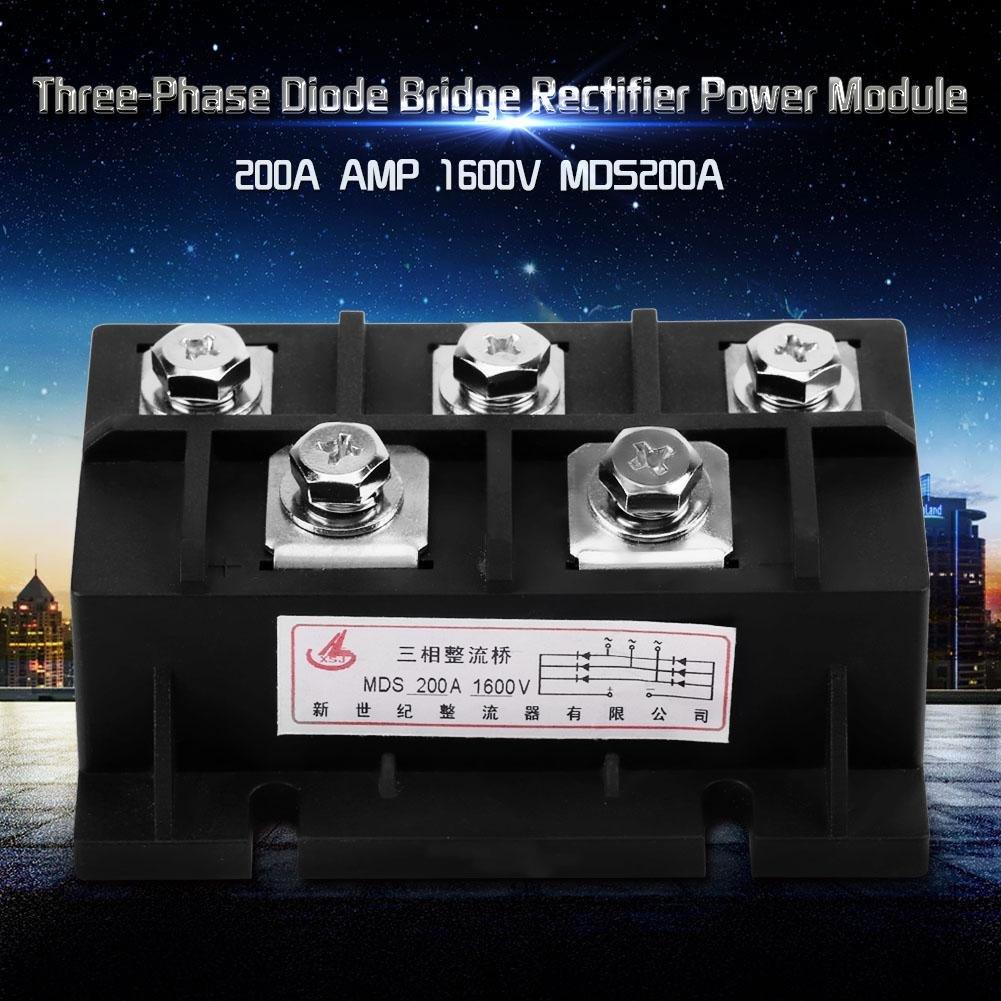 Redresseur Triphas/é AC /à DC Module de Terminaux 5 Redresseur de Pont de Diode en Silicium MDS 200 amp 1600V 3 phase AC /à DC