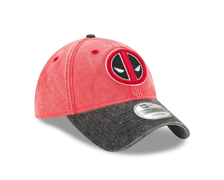 Amazon.com  New Era Marvel Comics Deadpool 9TWENTY Rugged Canvas Strapback  Hat  Clothing 961447f49e03