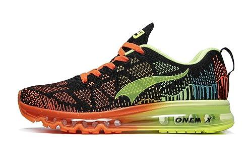 Onemix Air Zapatos para Correr en Montaña y Asfalto Aire Libre y Deportes Zapatillas de Running Padel para Mujer Azul Negro Negro/Grenn TAMAÑO 39 EU: ...