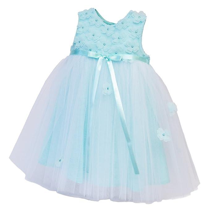 Generic - Abito da battesimo - linea ad a - Senza maniche - Bebè femminuccia   Amazon.it  Abbigliamento d275c7b8448