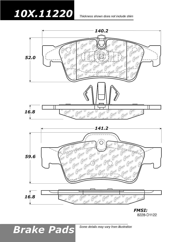 Centric Brake Pad Sets 2-Wheel Set Front Driver or Passenger Side New 105.13630
