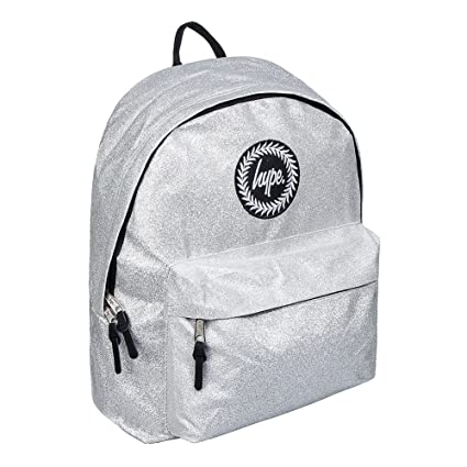 HYPE Silver Glitter Backpack Rucksack Bag - Ideal School and Travel Bags -  Rucksack For Boys 436a612bbfce7
