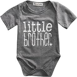 5f8876ab78 Gaono Toddler/Newborn Boys Shirt Big Brother T-Shirt & Little Brother  Romper &Little