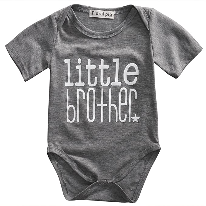 0136fa45d1abf8 Amazon.com  Gaono Toddler Newborn Boys Shirt Big Brother T-Shirt   Little  Brother Romper  Little Sister Tee Tops  Clothing