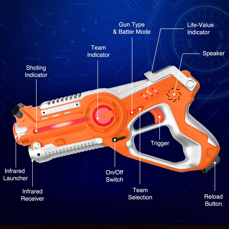 Laser Tag Guns Sets, Super Joy Infrared Laser Tag Sets with 4 Guns and 4 Vests, Laser Tag Gun Toys Indoor Outdoor Game for Boys Girls by Super Joy (Image #3)