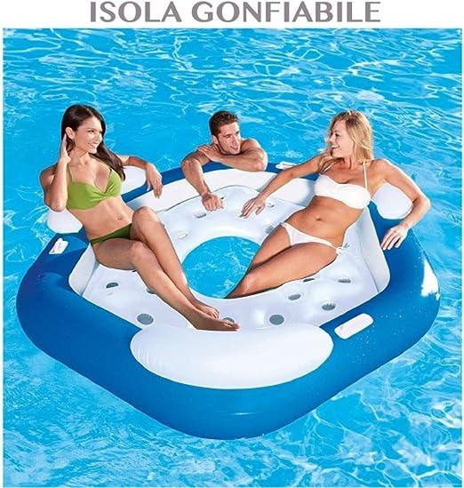 1711038_1 colchón hinchable isla para 3 personas piscina playa ...