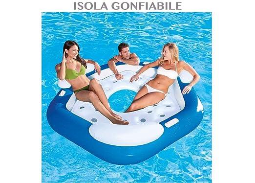 1711038_1 colchón hinchable isla para 3 personas piscina ...