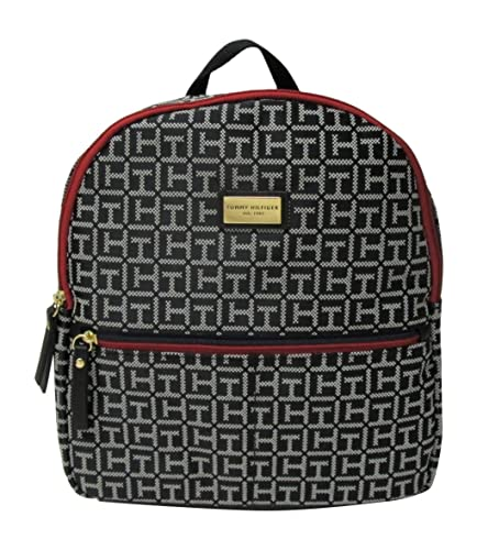 652ad966 Amazon.com: Tommy Hilfiger Women's Small Backpack Monogram Logo TH (Black):  Shoes