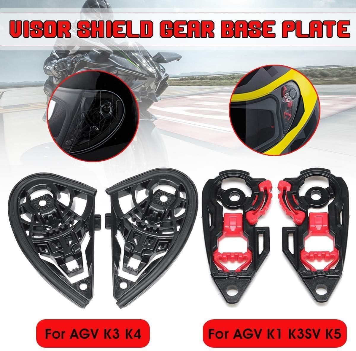 1pair Casque de Moto Visor Bouclier de Vitesse Plaque de Base Support de lentille for K1 AGV K3SV K5 K4 Couleur : K1 K3SV K5 NO LOGO FJY-Visor K3