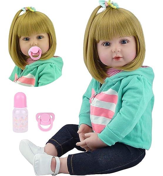 "19/"" Handmade Realistic Reborn Baby Soft Vinyl Silicone 48 cm Dolls Xmas Gift"