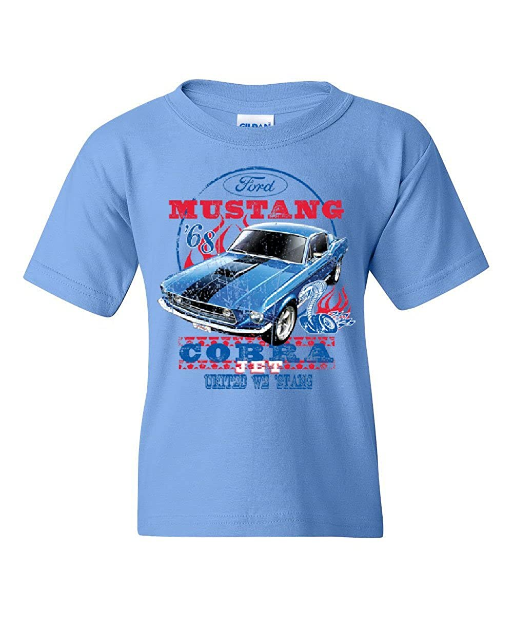 Ford Mustang Cobra 1968 Youth T-Shirt United We Stang American Classic Kids Tee
