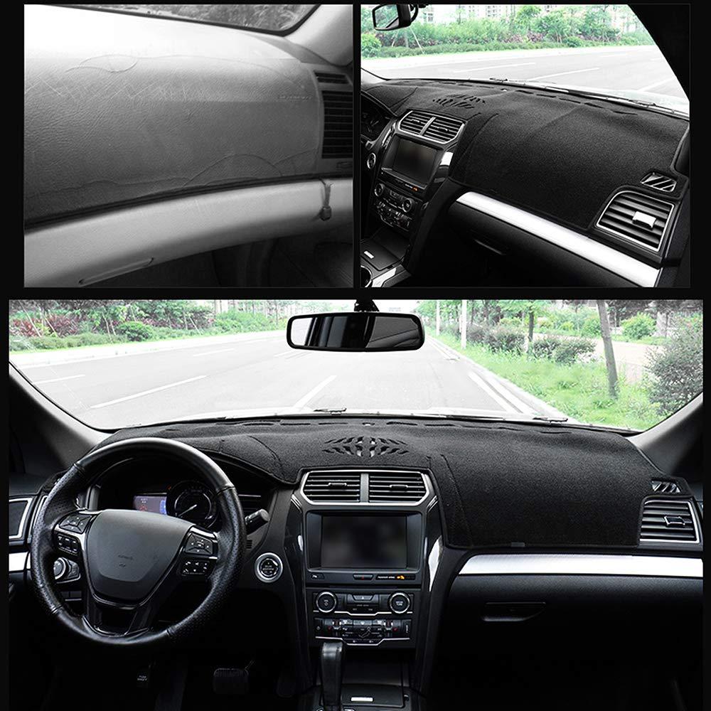 Yeeoy Anti-Slip Backing Custom Dashboard Cover Dash Mat Carpet Fits Ford Explorer 2011-2017