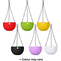 Kraft Seeds Hanging Planter Gamla Pot (Multicolour, Pack of 6)
