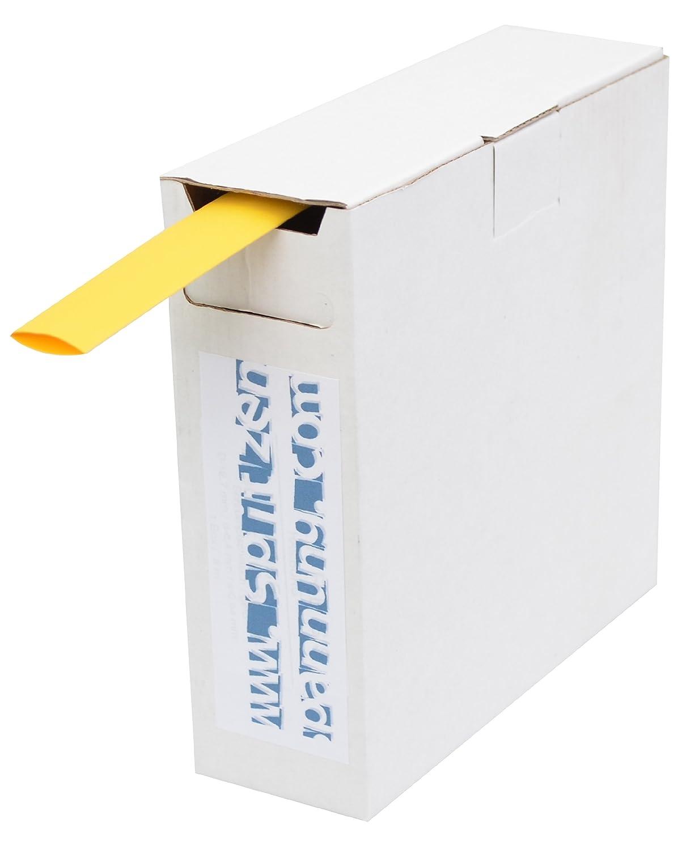 8m gelb JSSRSHQ127-GE High-Quality Schrumpfschlauch Box 2:1 D=12,7mm//d=6,4mm