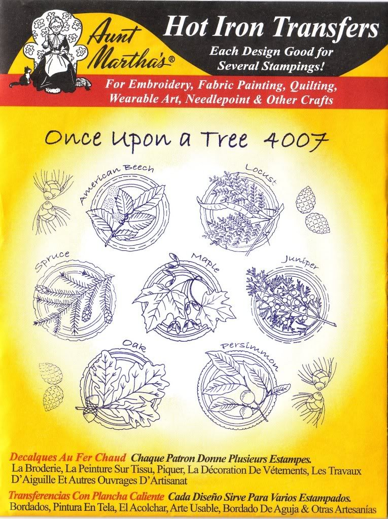 Amazon.com: Once Upon a Tree Aunt Martha\'s Hot Iron Embroidery Transfer