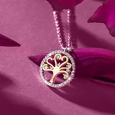 Pauline Morgen Tree Of Life Necklace For Women Made With Crystals