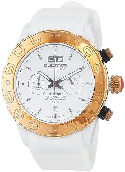 Bultaco Reloj Cronógrafo para Mujer de Cuarzo con Correa en Caucho H1PW43C-CW1: Amazon.es: Relojes