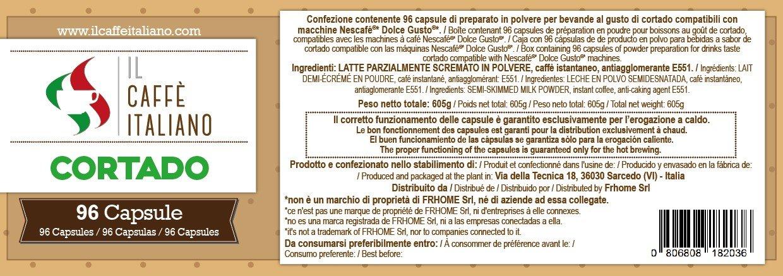 Il Caffè italiano 96 Nescaf Dolce Gusto Compatible Coffee Capsule- Barley -96 X Coffee Capsules/Pods Espresso Compatible Nescaf Dolce Gusto-(Pack Of 6 Total ...