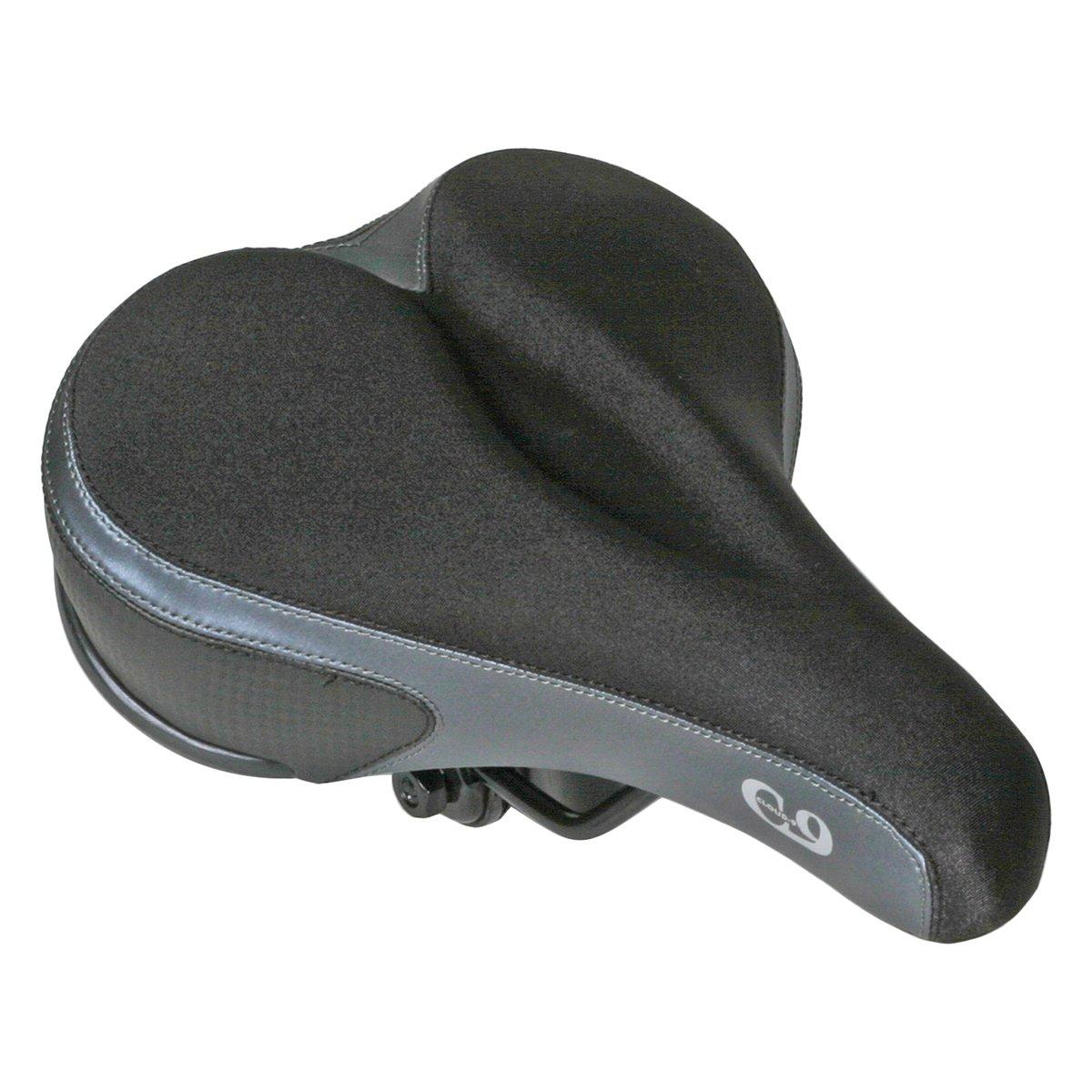 Cloud-9 Comfort Gel Mens Bicycle Suspension Comfort Saddles Tri Color Lycra Sunlite
