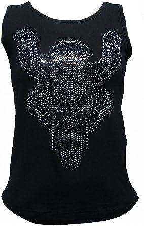 Rockabilly Punk Rock Baby Mujer Lady Stretch Tank Top Camiseta Negro Black Biker Calavera Strass Diamante Designer Tattoo notebook: Amazon.es: Ropa y accesorios