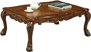 Benjara Dresden Coffee, Cherry Oak Tables, One Size, Brown