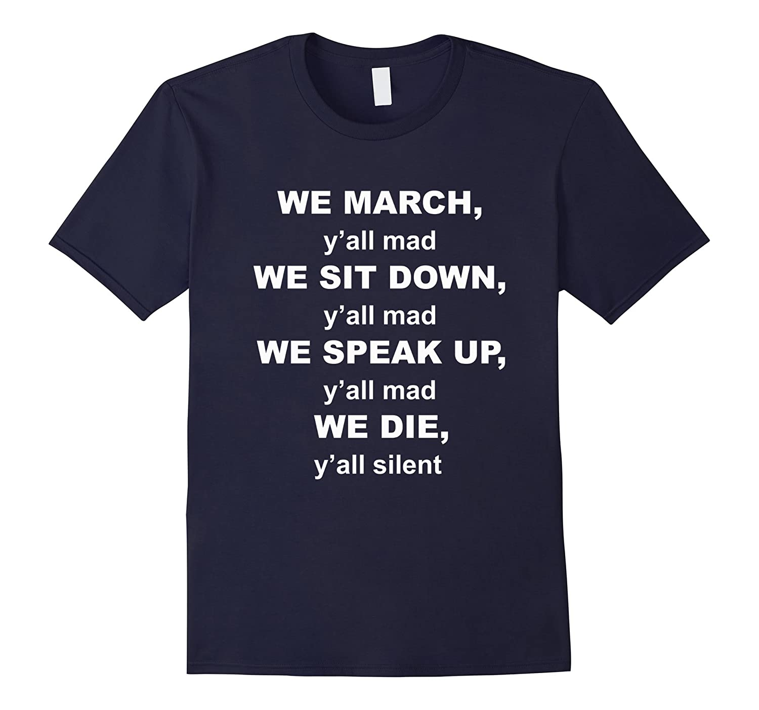 We March Black Lives Matter Protest T-shirt-FL