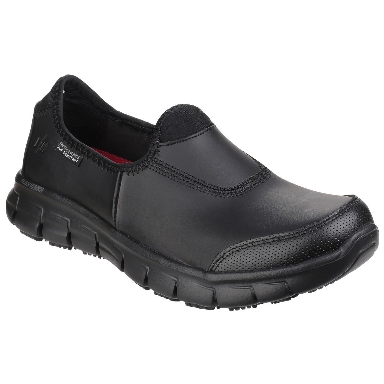 Skechers Occupational Womens/Ladies Sure Track Slip On Work Shoes B01M2YNP9L 9 M US Black