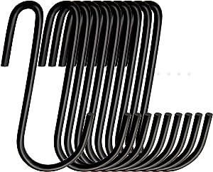 S Hooks 36 Pack S Shaped Hooks hooks for hanging Stainless Steel Metal Hangers Hanging Hooks for Kitchen, mug hooks light hooks vinyl siding hooks for hanging,Work Shop, Bathroom, Garden