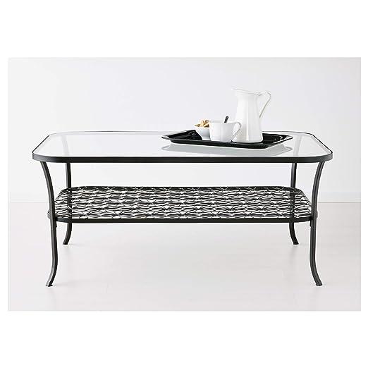 Ikea 2024.82617.2622 Mesa de café, Color Negro, Cristal ...