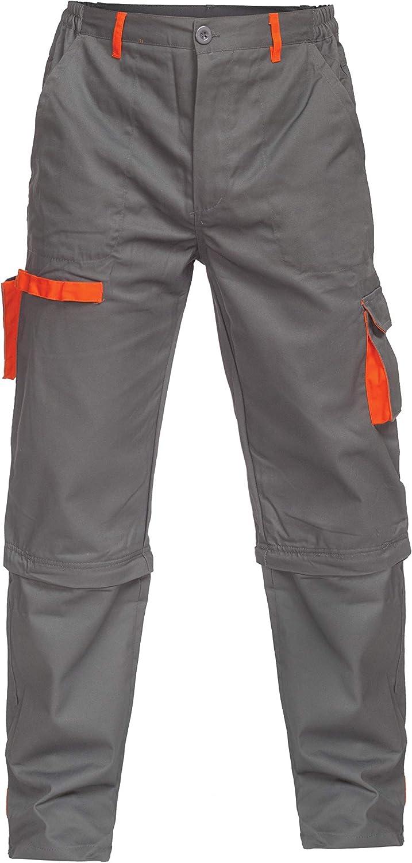 Grigio Uomo DINOZAVR Sigma Pantaloni da Lavoro multitasca e Pantaloncini da Lavoro 2 in 1