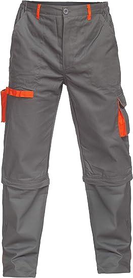 Imagen deDINOZAVR Sigma Pantalones Estilo Cargo y Pantalones Cortos de Trabajo para Hombre 2 en 1 - Gris