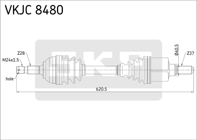 SKF VKJC 8480 Antriebswelle