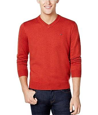 exquisite handwerkskunst günstigen preis genießen niedrigster Rabatt Tommy Hilfiger Mens Signature Pullover Sweater, Orange, XX ...