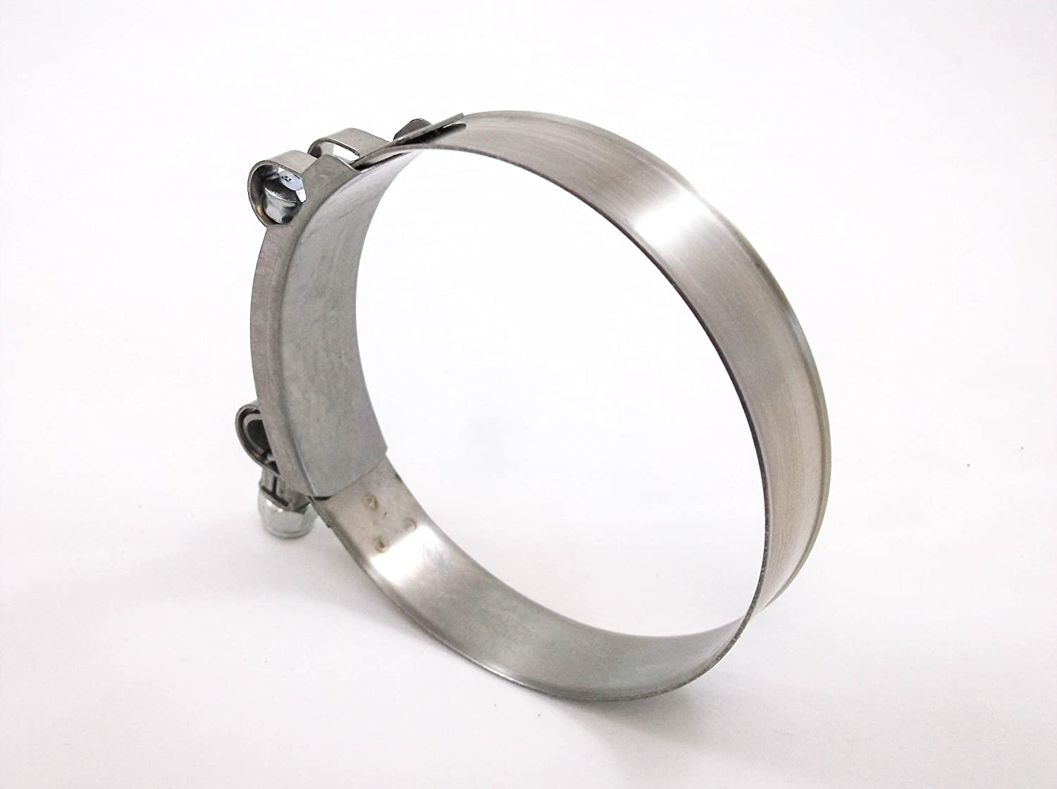 1x Premium 304 Stainless Steel T-Bolt Turbo Hose Clamp 3.5 Inches 82-90mm