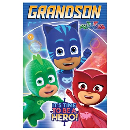 PJ Masks Grandson Birthday Card