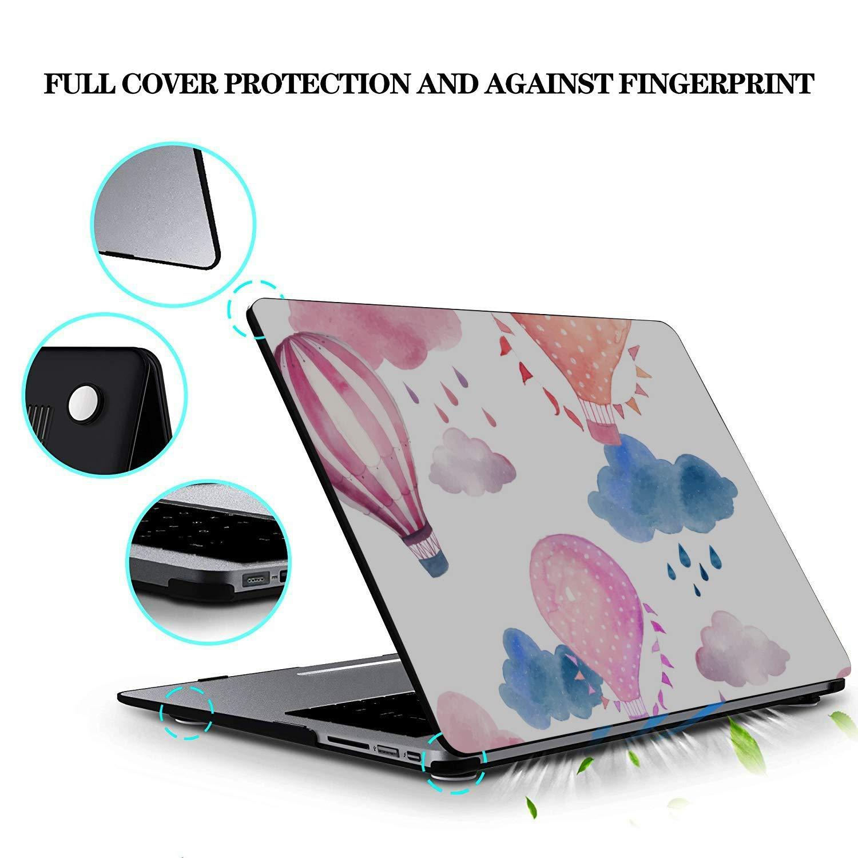 Cover MacBook Pro Cartoon Love Air Ballon Plastic Hard Shell Compatible Mac Air 11 Pro 13 15 MacBook Air A1466 Case Protection for MacBook 2016-2019 Version
